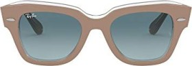 Ray-Ban RB2186 State Street 49mm beige/blue gradient (RB2186-12973M)