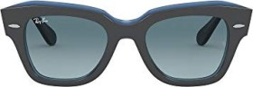 Ray-Ban RB2186 State Street 49mm grey/blue gradient (RB2186-12983M)