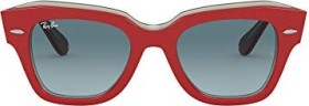 Ray-Ban RB2186 State Street 49mm red/blue gradient (RB2186-12963M)