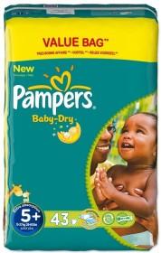 Pampers Baby-Dry Gr.5+ Einwegwindel, 13-27kg, 43 Stück