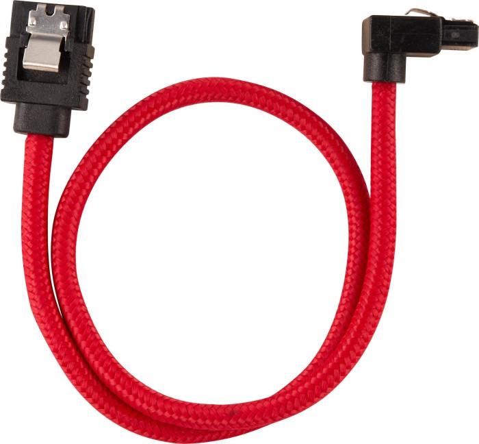 Corsair Premium sleeved SATA 6Gb/s cable red 30cm, angled