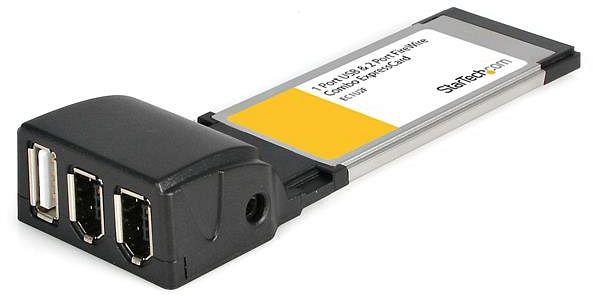 StarTech EC1U2F, 2x FireWire/1x USB 2.0, ExpressCard/34