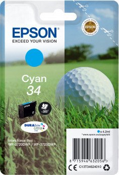 Epson ink 34 cyan (C13T34624010)
