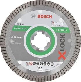 Bosch Professional X-LOCK Best for Ceramic Extra Clean Turbo Diamanttrennscheibe 125x1.4mm, 1er-Pack (2608615132)