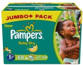 Pampers Baby-Dry Gr.5+ Einwegwindel, 13-27kg, 68 Stück