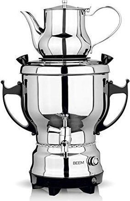 BEEM Samowar 3l 2200W Edelstahl Teemaschine Wasserkocher Teekocher Samovar