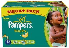 Pampers Baby-Dry Gr.5+ Einwegwindel, 13-27kg, 84 Stück