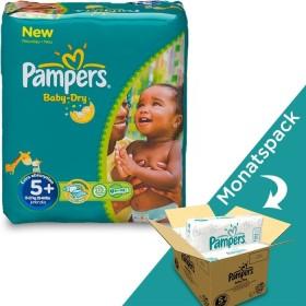 Pampers Baby-Dry Gr.5+ Einwegwindel, 13-27kg, 132 Stück