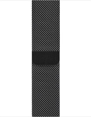 Apple Milanaise-Armband für Apple Watch 44mm schwarz (MTU52ZM/A)