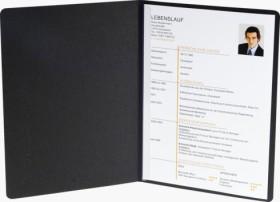 Exacompta Bewerbungsmappe Success A4, 2-teilig mit 1 Klemmschiene, Manila-Karton in Leinen-Optik, schwarz (49101B)