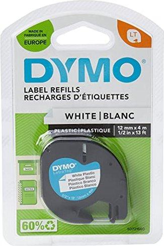 Dymo LetraTag 12mm, weiß (91201/S0721610) -- via Amazon Partnerprogramm