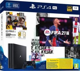 Sony PlayStation 4 Pro - 1TB inkl. 2 Controller FIFA 21 Bundle schwarz