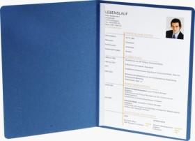 Exacompta Bewerbungsmappe Success A4, 2-teilig mit 1 Klemmschiene, Manila-Karton in Leinen-Optik, blau (49102B)