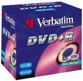Verbatim DVD+R 4.7GB 4x, 200-pack