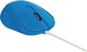 Sweex MI1180 Desktop Mouse Curacao blau, USB (NPMI1180-07)