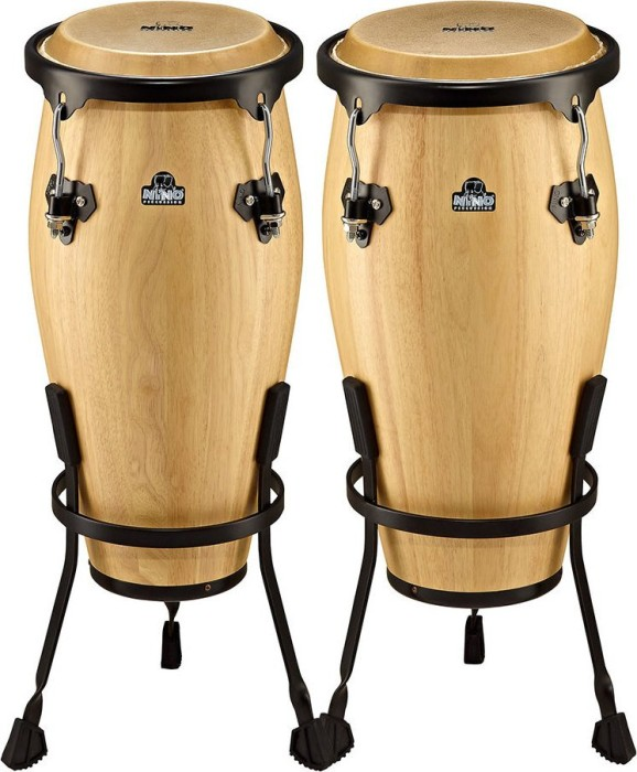 Nino NINO89NT Natural Wood Conga Set