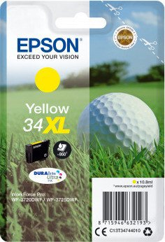 Epson ink 34 XL yellow (C13T34744010)