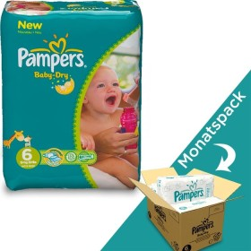 Pampers Baby-Dry Windeln 1 x 124 Stück Monatsbox 6 Gr 1er Pack 13-18 kg