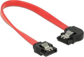 DeLOCK SATA 6Gb/s cable red 0.2m, left angled (83962)