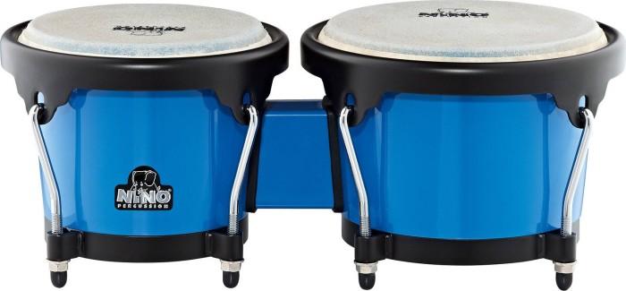 Nino NINO17B-BK blau/schwarz ABS Bongos Plus