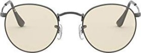 Ray-Ban RB3447 Round Solid Evolve 50mm gunmetal/light brown-grey evolve (RB3447-004/T2)