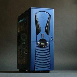 X-Alien AL888 Midi-Tower mit Türe und USB/FireWire Front, blau (500W Netzteil) -- © CWsoft