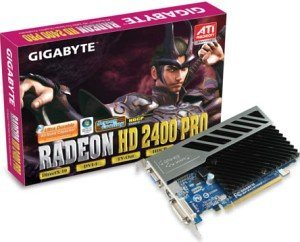 Gigabyte Radeon HD 2400 Pro, 256MB DDR2, VGA, DVI, TV-out (GV-RX24P256H)