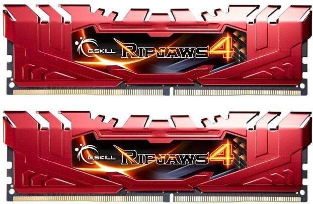 G.Skill RipJaws 4 red DIMM kit 8GB, DDR4-2400, CL15-15-15-35 (F4-2400C15D-8GRR)