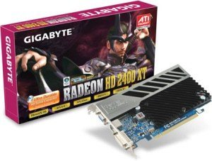Gigabyte Radeon HD 2400 XT, 256MB DDR3, VGA, DVI, TV-out (GV-RX24T256HP)