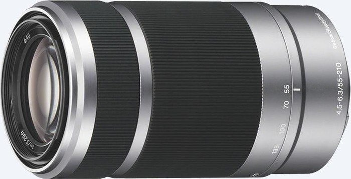 Sony Objektiv AF E  55-210mm 4.5-6.3 OSS silber (SEL-55210S) -- http://bepixelung.org/20527