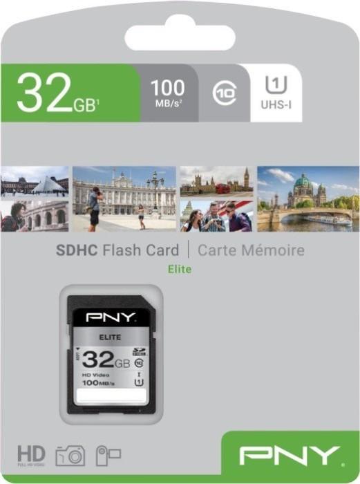 PNY Elite R100 SDHC 32GB, UHS-I U1, Class 10 (P-SD32GU1100EL-GE)