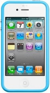Apple iPhone 4 Bumper blau (MC670ZM/A)