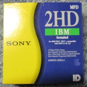 Sony 10MFD-2 floppy discs [Floppy] 1,44MB, DOS-formatted,10 pieces