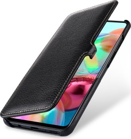 Stilgut Book Type Leather Case Clip für Samsung Galaxy A71 schwarz (B086SPPS3M)