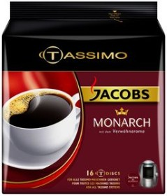 Tassimo T-Disc Jacobs Monarch coffee capsules, 16-pack