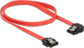 DeLOCK SATA 6Gb/s cable red 0.5m, left angled (83964)