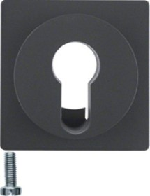 Berker centre plate for key switch/-push-button, anthracite samt (15076086)
