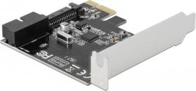 DeLOCK USB-Hub, 1x USB 3.0 19-Pin Stecksockel, PCIe 2.0 x1 (90394)