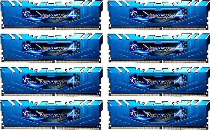G.Skill RipJaws 4 blue DIMM kit 64GB, DDR4-2133, CL15-15-15-35 (F4-2133C15Q2-64GRB)