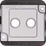 Merten Zentralplatte für Antennensteckdosen mattsilber (294660)