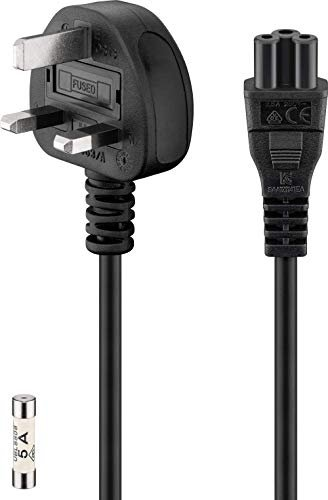 Wentronic Goobay C5 power cable UK (96046)
