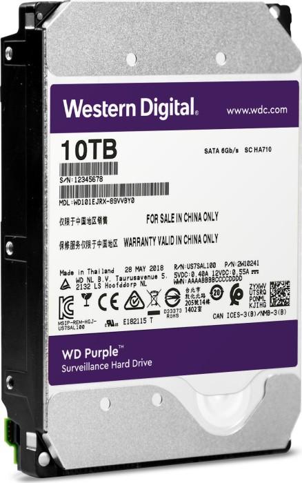 Western Digital WD purple 10TB, SATA 6Gb/s (WD100PUZX