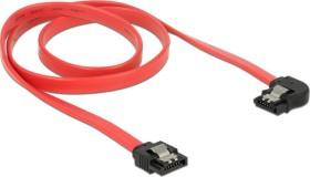 DeLOCK SATA 6Gb/s cable red 0.7m, left angled (83965)