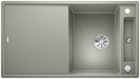Blanco Axia III 5 S InFino pearl grey incl. wooden bridging chopping board (523208)