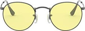Ray-Ban RB3447 Round Solid Evolve 50mm gunmetal/yellow-light red evolve (RB3447-004/T4)