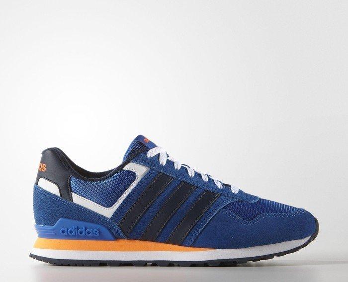 Herren 10k Low-Top, Blau (Blue/Collegiate Navy/Solar Orange), 40 EU adidas Neo