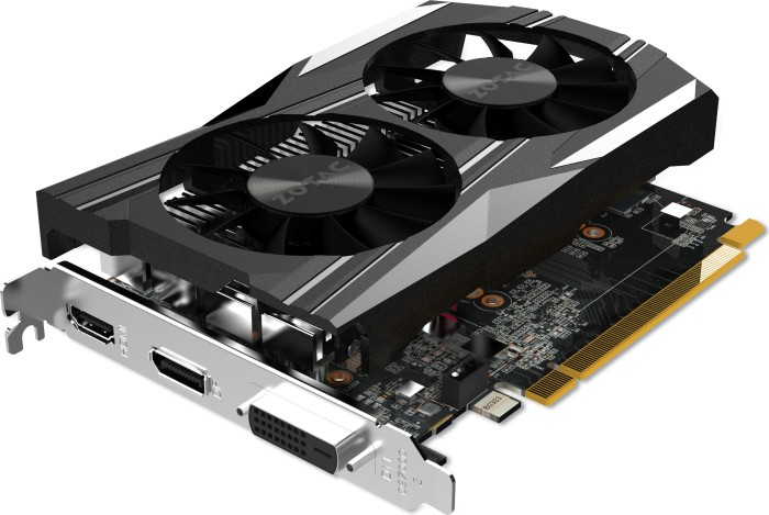 Zotac GeForce GTX 1050 Ti OC Edition, 4GB GDDR5, DVI, HDMI, DisplayPort (ZT-P10510B-10L)