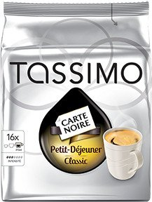 Tassimo T-Disc Carte Noire Petit Déjeuner Kaffeekapseln, 16er-Pack