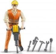 Bruder bworld Bauarbeiter mit Zubehör (60020)