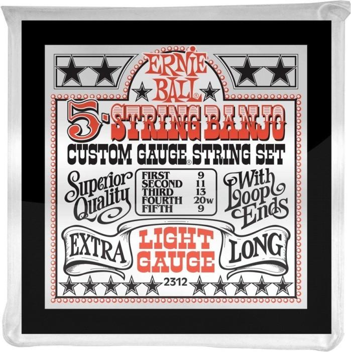 Ernie Ball Stainless Steel 5-String Banjo Light (P02312)